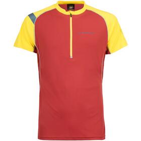 La Sportiva Advance - T-shirt course à pied Homme - jaune/rouge